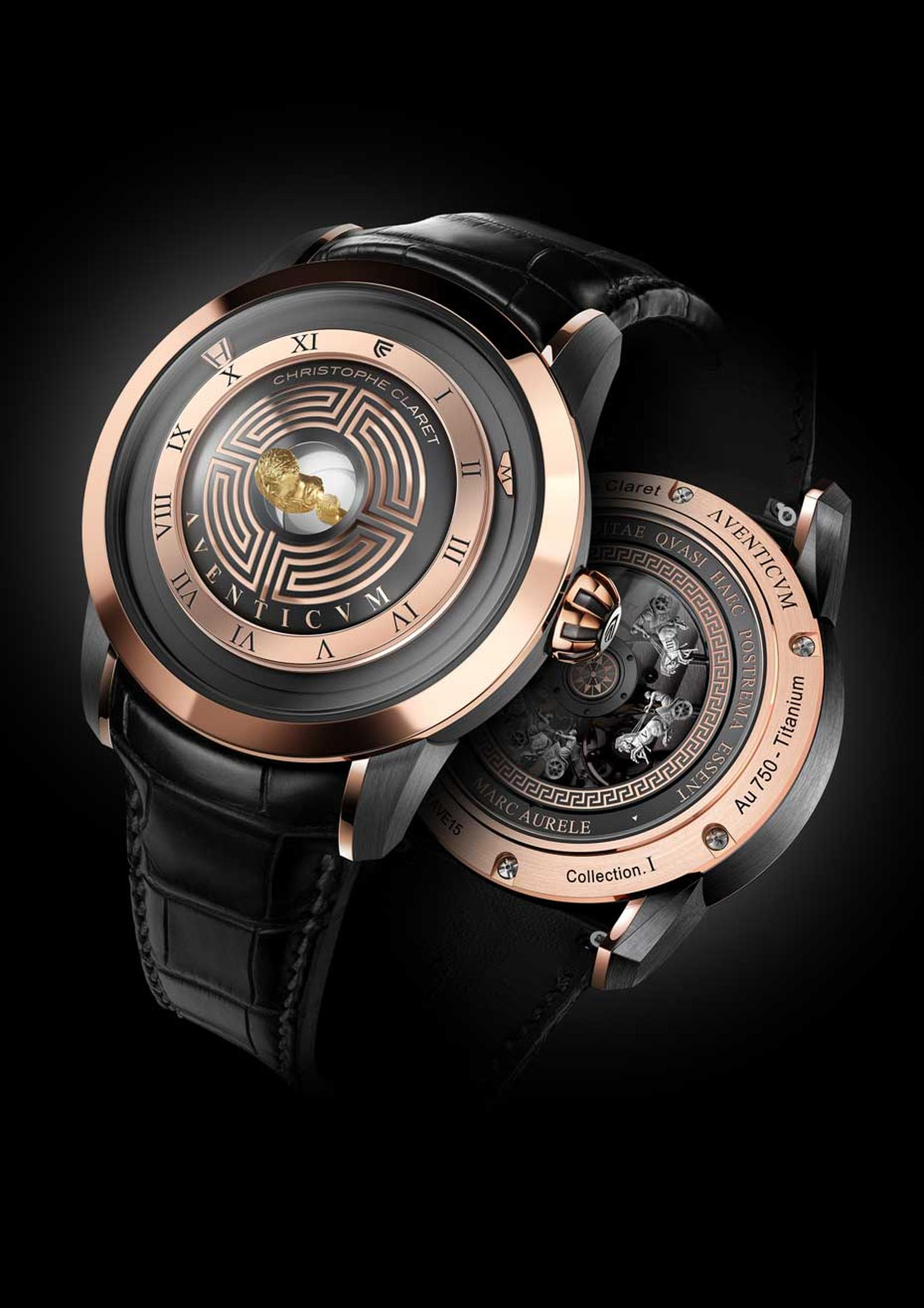 The Christophe Claret Aventicum watch is dedicated to Roman emperor Marcus Aurelius.