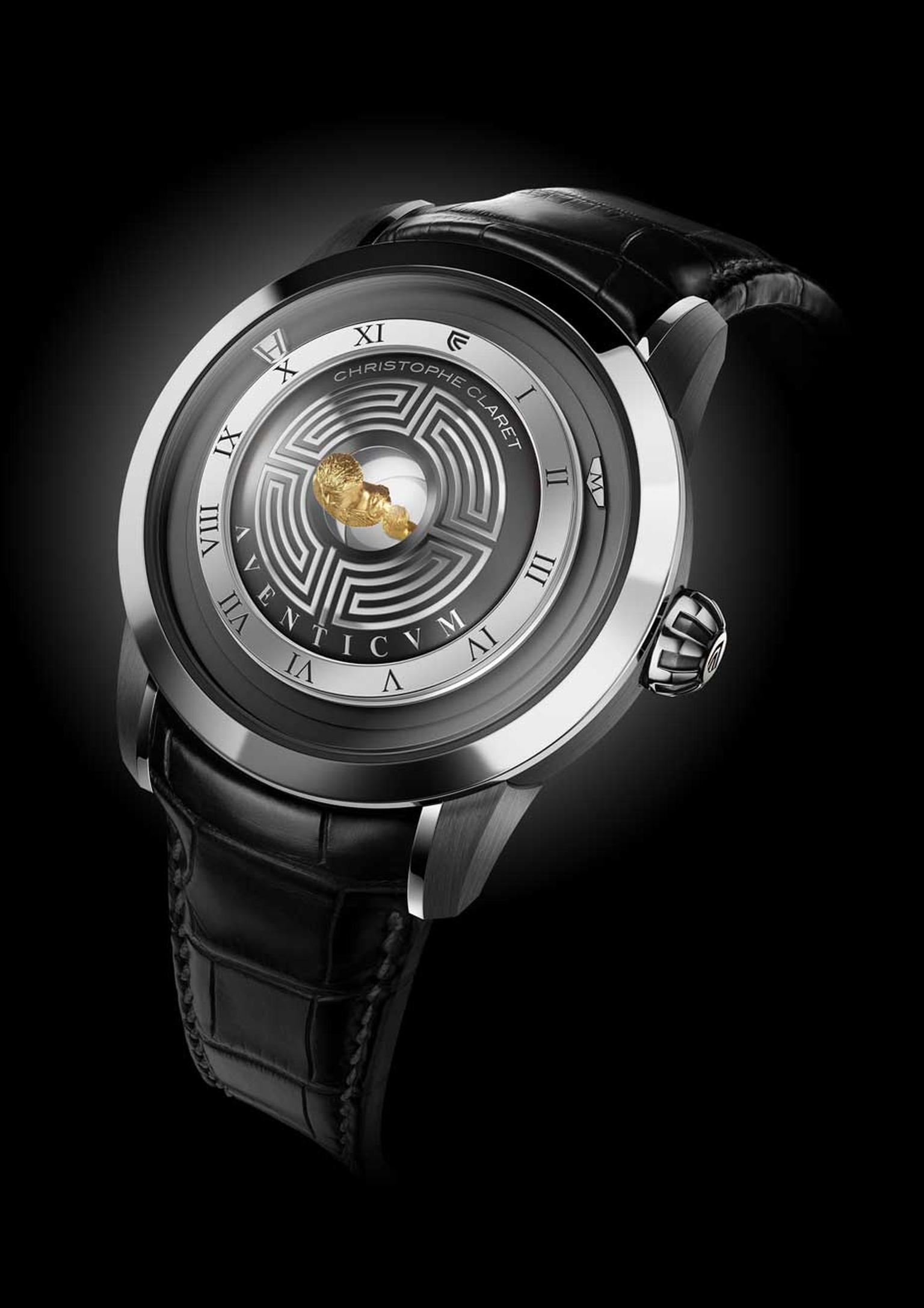 Christophe Claret's Aventicum watch also features five chariots racing around the mini circus.