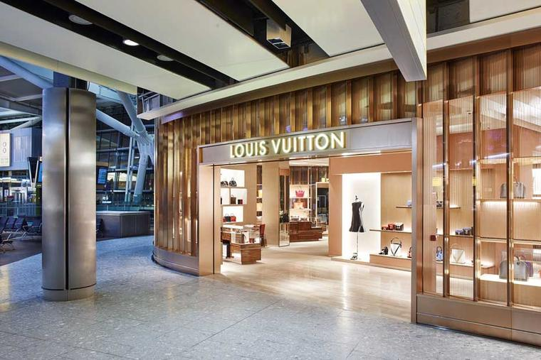 Louis Vuitton has opened its first airport store in Europe at Heathrow's Terminal 5.