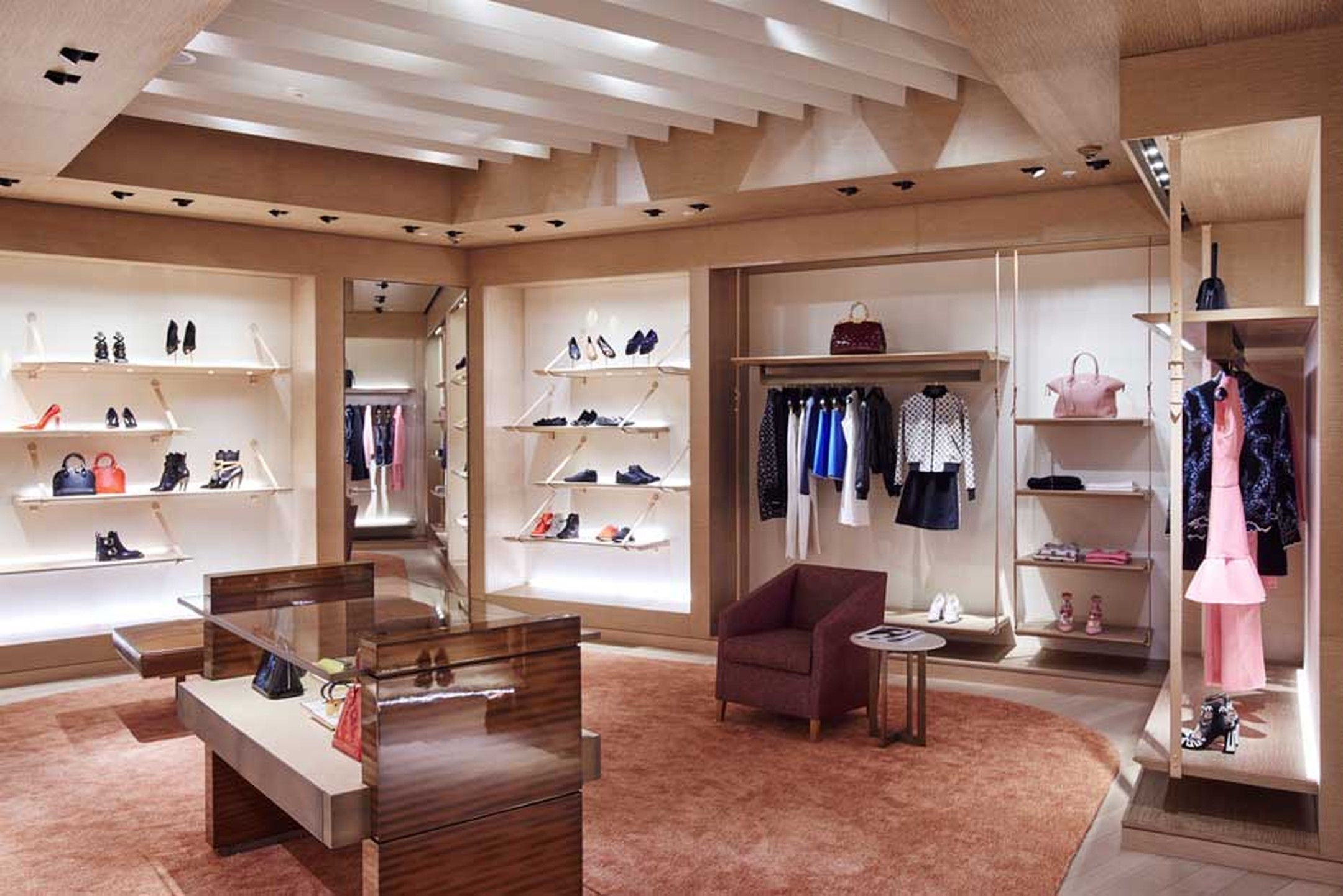 Louis Vuitton's 301sq m store in Terminal 5 sells fine jewellery, watches and a selection of the maison's leather goods, women's ready-to-wear, shoes, accessories and sunglasses.