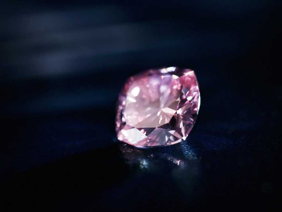 "The important Argyle Satine pink diamond, a 1.02-carat cushion cut Fancy Intense Purplish-Pink diamond - one of the ""hero"" diamonds at Rio Tinto's 2012 Argyle Pink Diamonds Tender."