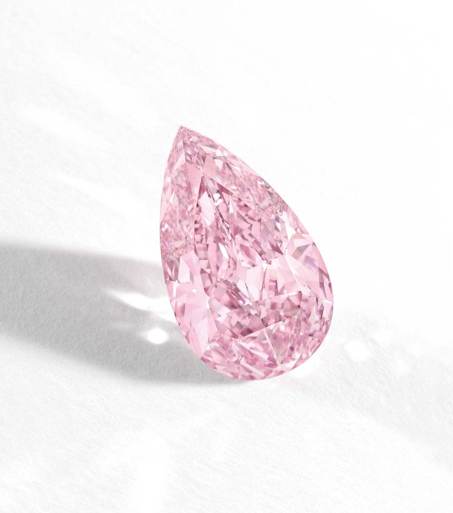 At Sotheby's Hong Kong in October 2014, a 8.41 carat Fancy Vivid Purple-Pink Internally Flawless diamond sold for $17,768,041 or $2,112,727 per carat, entering the record books as the highest price paid per carat for any pink diamond.