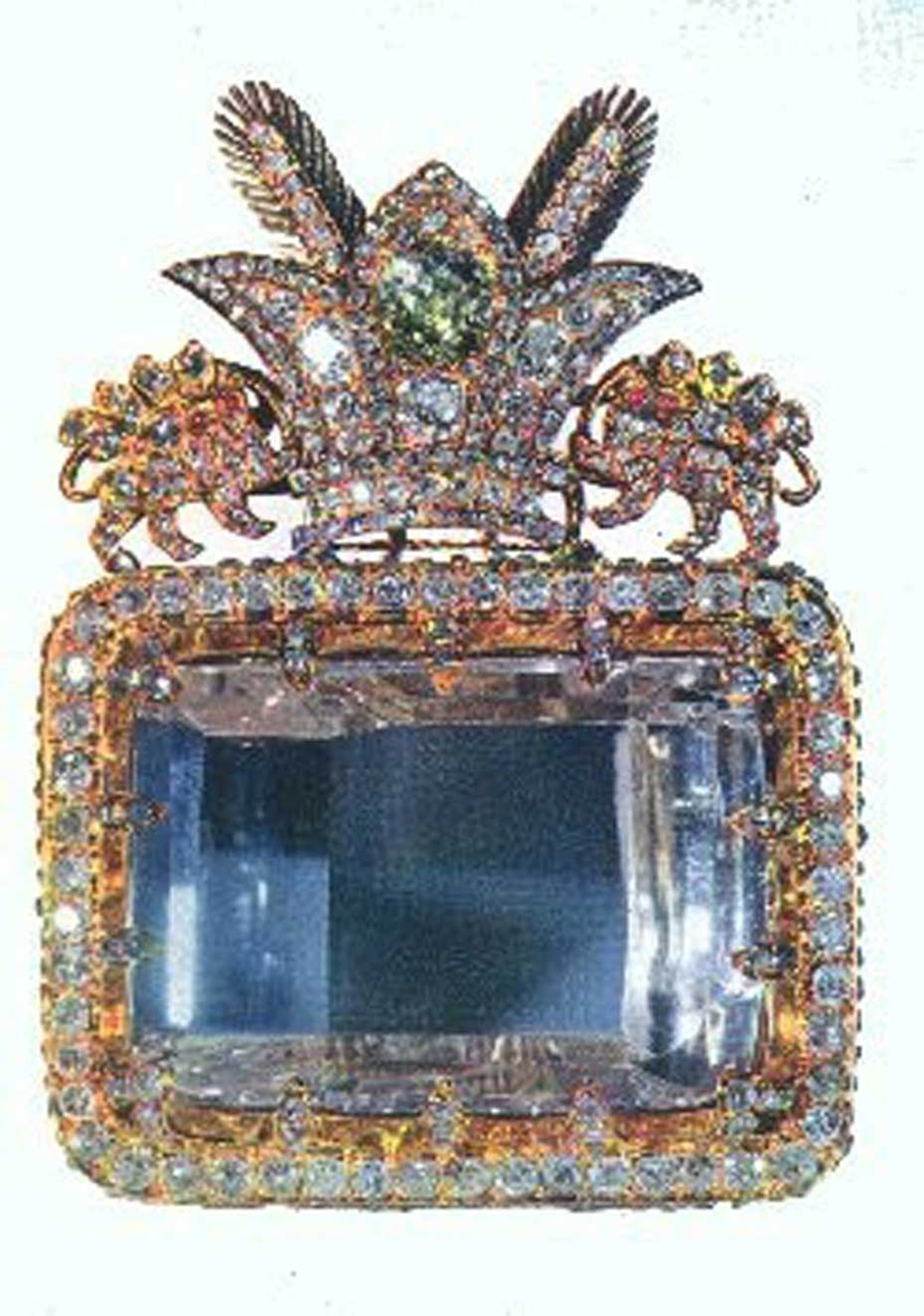 The Darya-I-Noor- Sea of Light - of the Iranian Crown Jewels is the largest pink diamond in the world.