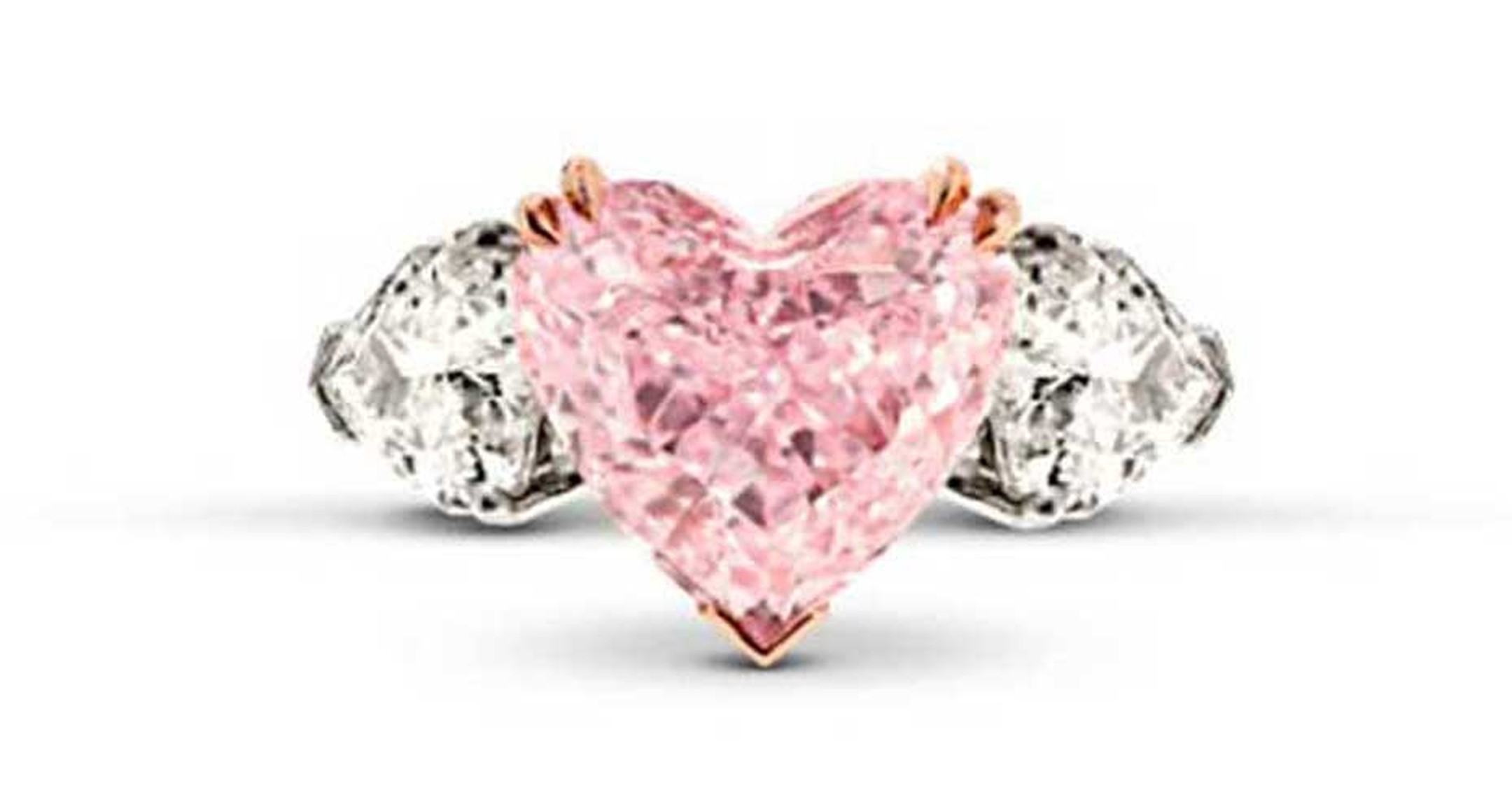 The Star Diamond Pink Heart ring.