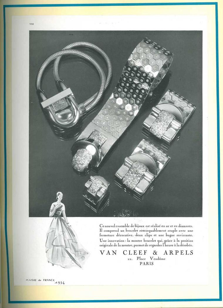 The sleek and slinky Van Cleef & Arpels Cadenas bracelet watch transports you back to the Art Deco era in which it was first launched.
