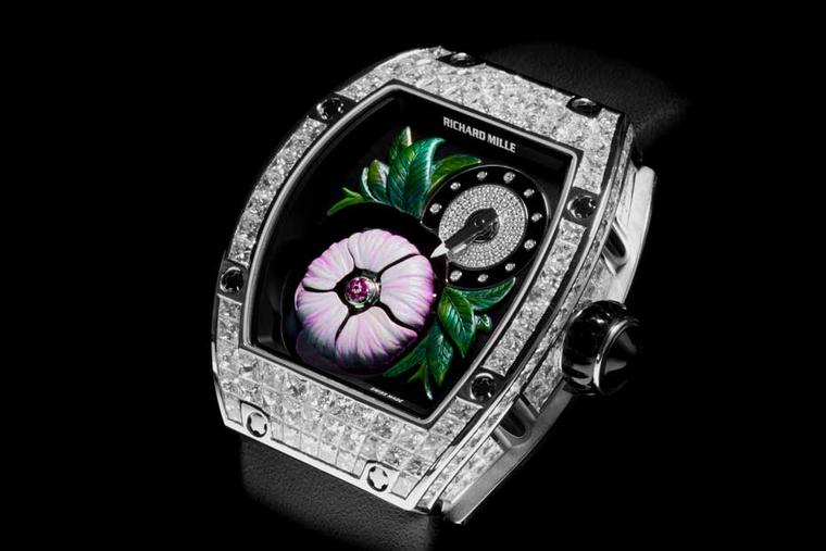 The new ladies' RM 19-02 Tourbillon Fleur watch from Richard Mille is a limited edition. With just 30 pieces being produced worldwide, it comes with a price tag of CHF 924,000.