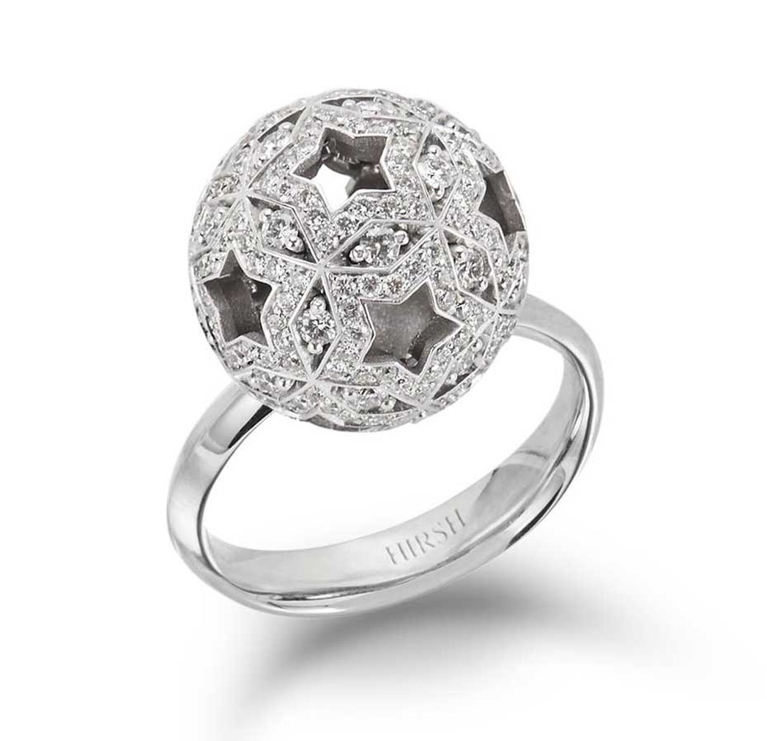 Hirsh Orion white gold and diamond ring, from the new Celestial collection.