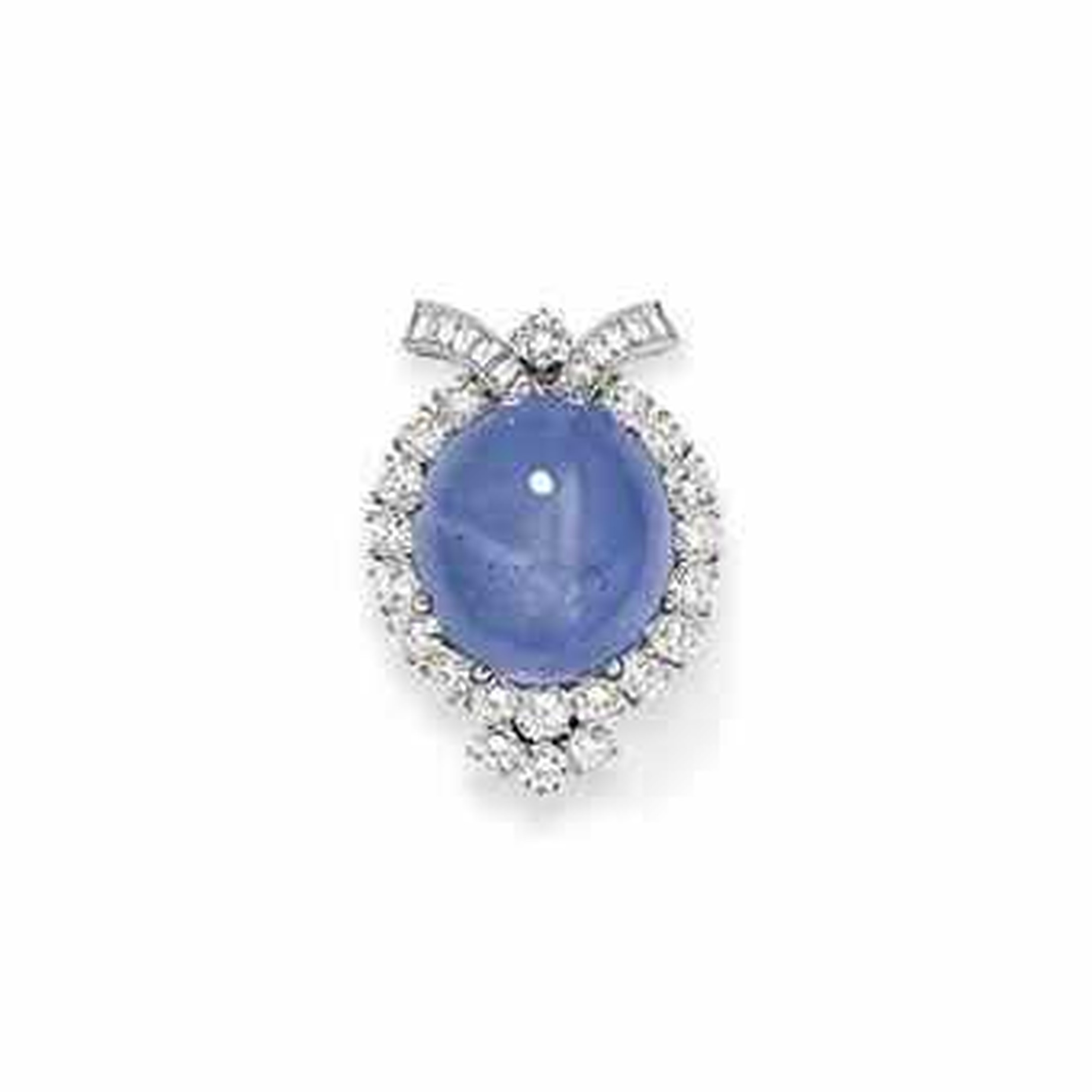 This Van Cleef & Arpels star sapphire and diamond brooch sold at Christie's for $32,000 in 2013.