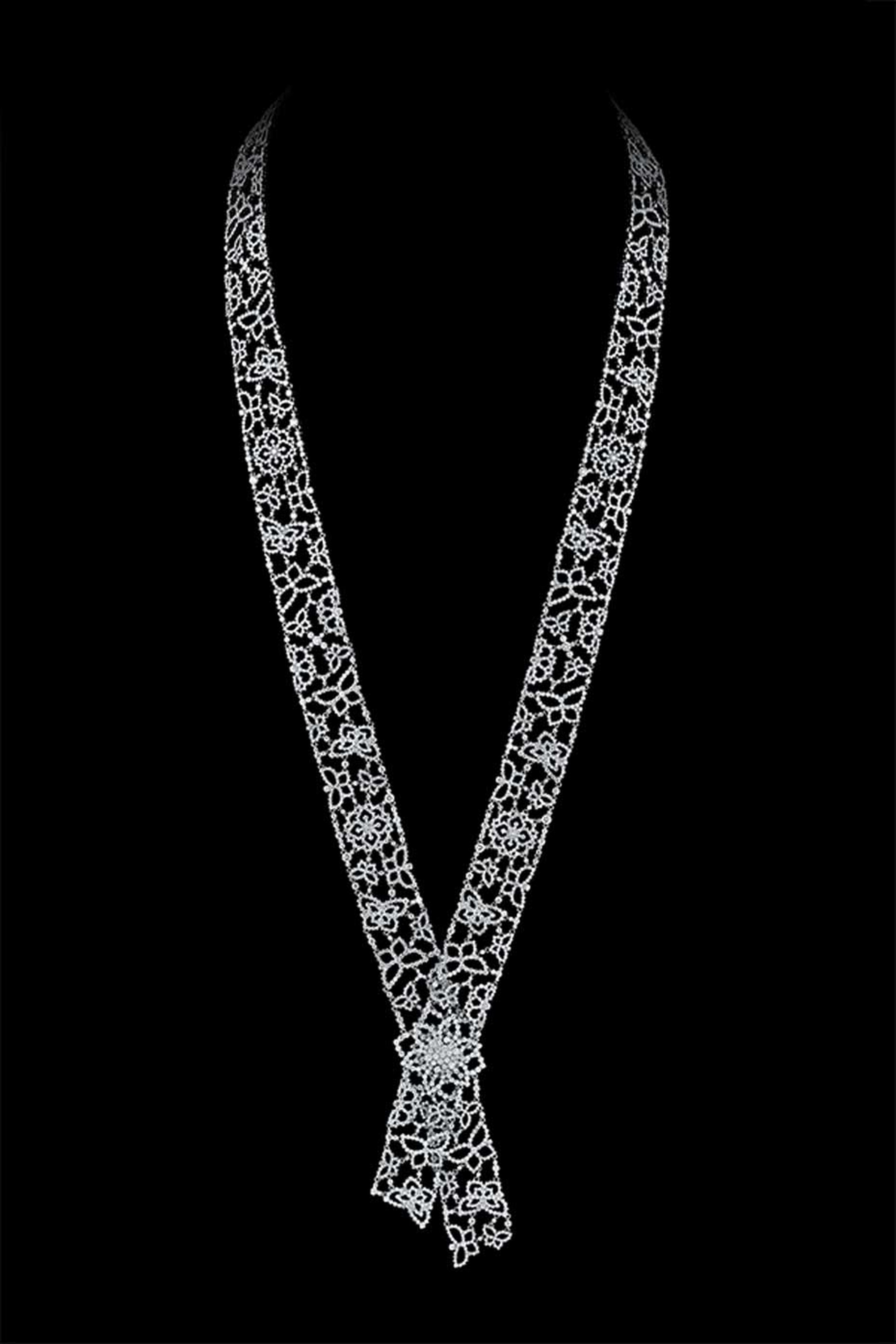White gold and diamond necklace from Alexander Arne's new SnowChic collection.
