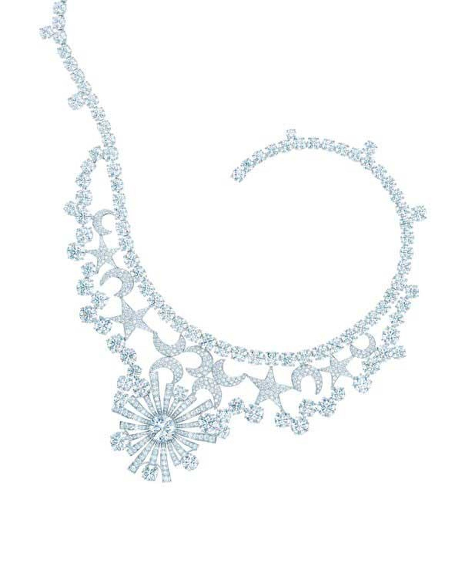 Jean Schlumberger designed the iconic Stars and Moons necklace for Tiffany & Co in the 1950s. The necklace was recreated in celebration of Tiffany's 175th anniversary in 2012.