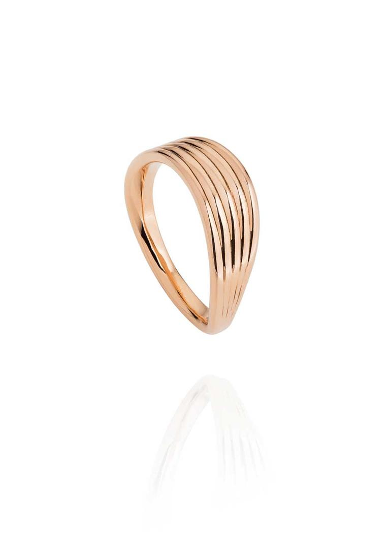 Fernando Jorge Stream rose gold ring.