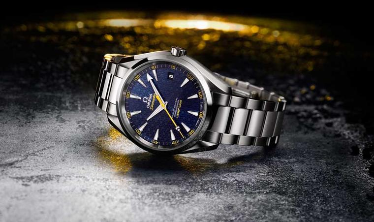 The Omega Seamaster Aqua Terra 150M is the official James Bond watch for the upcoming film Spectre. The 41.5mm stainless steel case provides a rugged companion for Bond's most challenging adventures and features a new Master Co-Axial calibre 8507, an auto