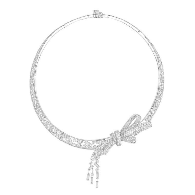 Chanel Ruban necklace in white gold with diamonds from the new Les Intemporels de Chanel collection.