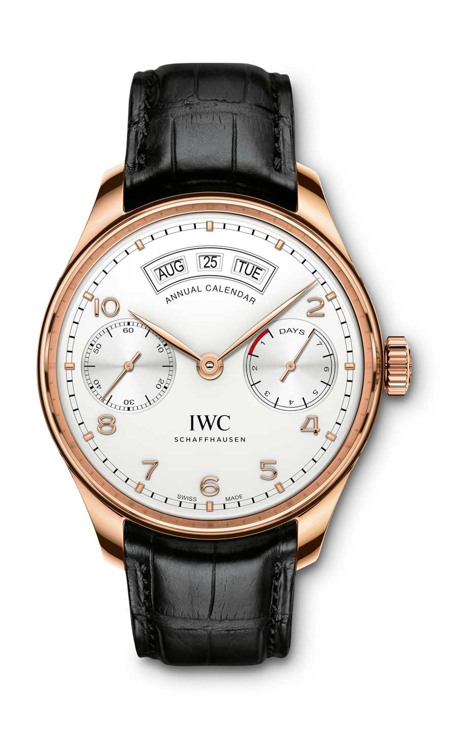 2015 heralds the Year of the Portugieser with IWC's debut of an annual calendar watch fitted with the new in-house 52850 calibre, which took engineers five years to develop.