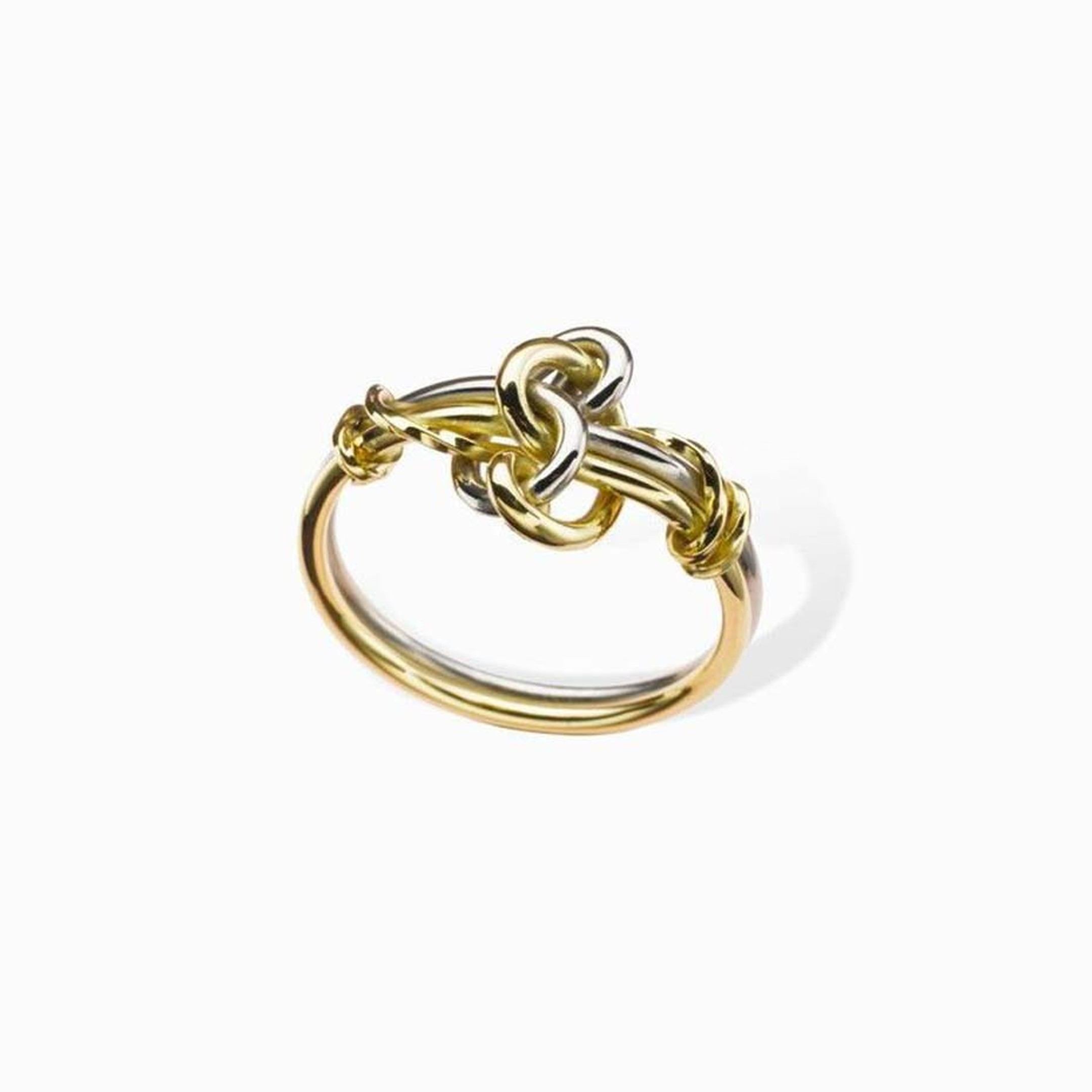 Erica Sharpe's Swan ring is crafted from white and yellow Fairtrade gold.