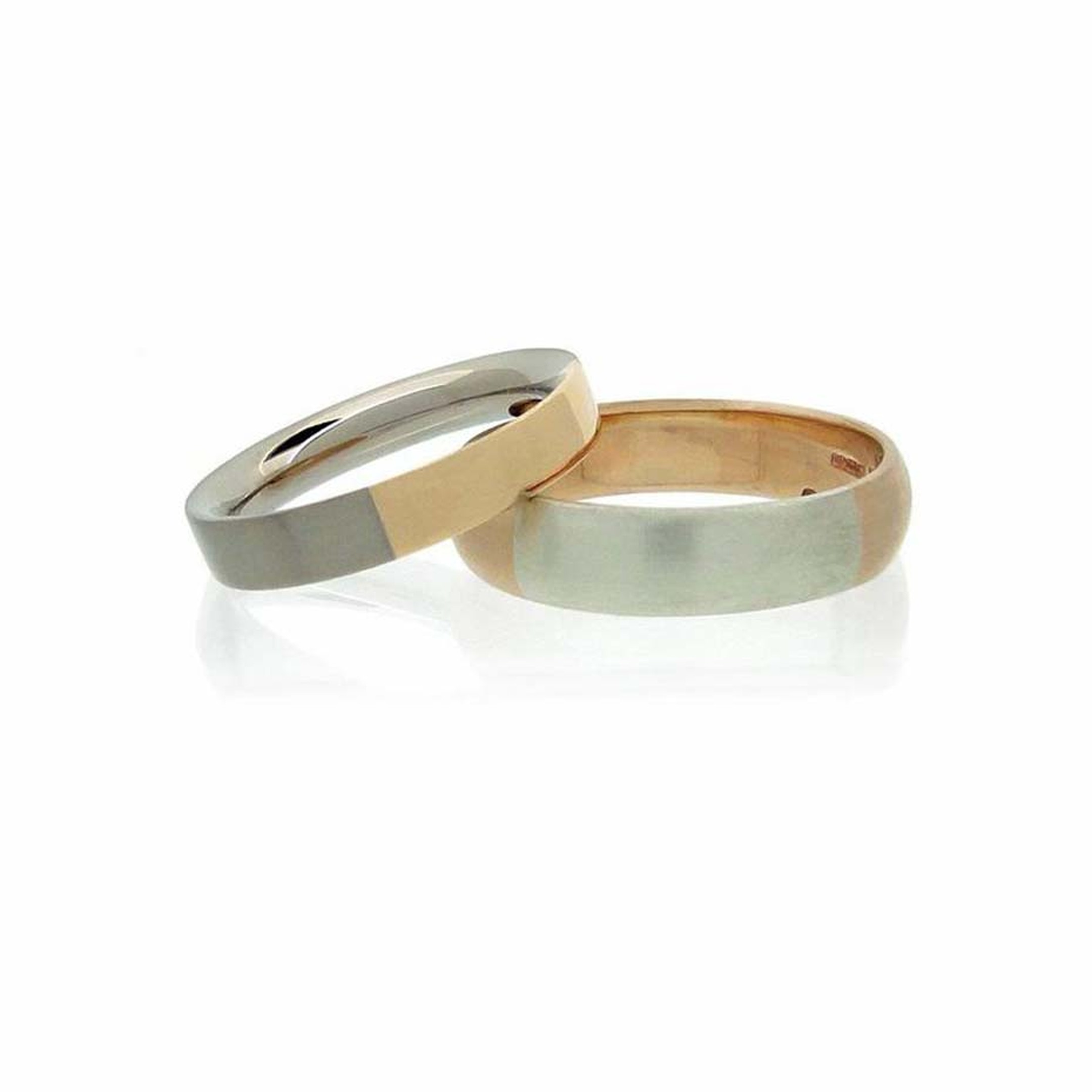 Amanda Li Hope ethical wedding bands in Fairtrade gold.