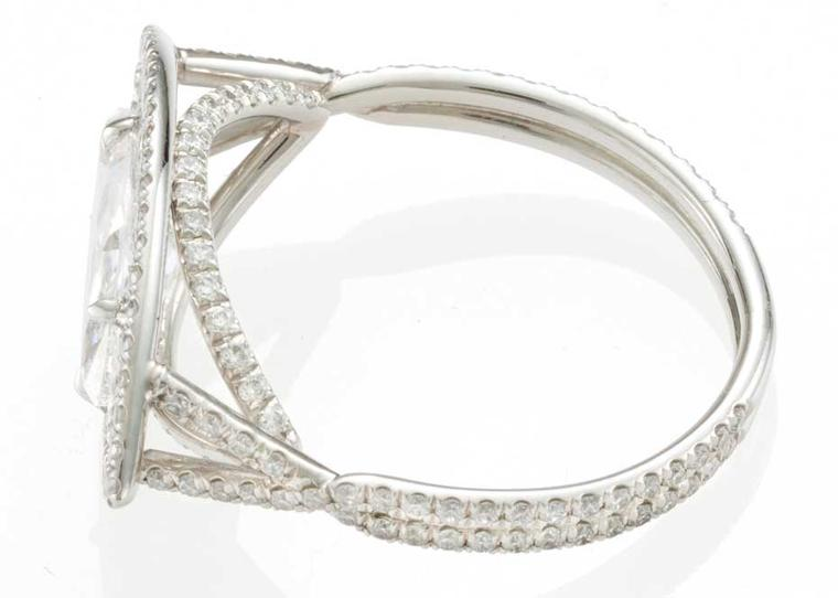 Monique Péan's platinum and diamond ring.