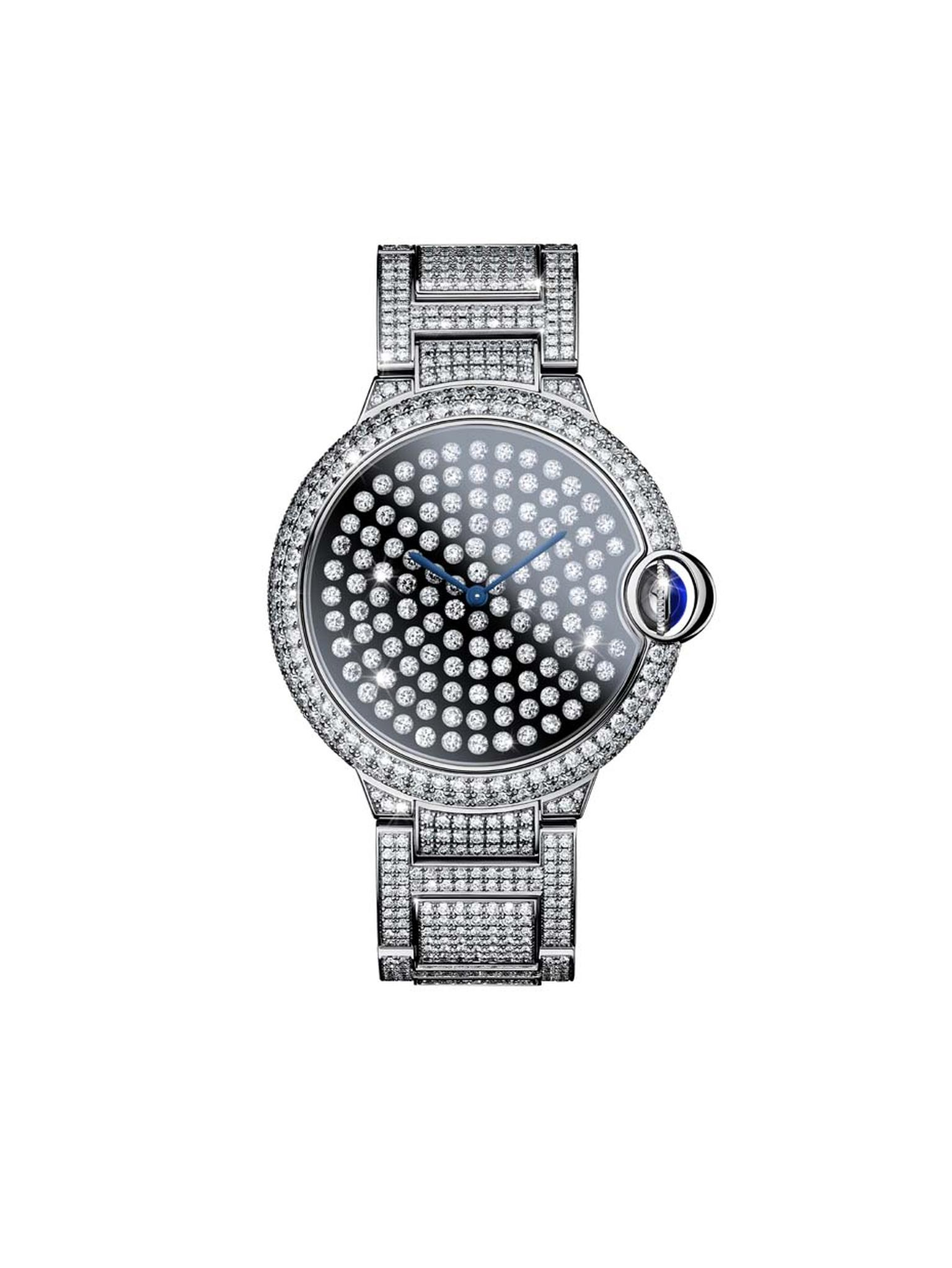 Cartier watches has launched the new Ballon Bleu Vibrating Setting, which looks as though it has been dipped in a constellation of sparkling diamonds that don't just twinkle, they tremble in response to your movements.