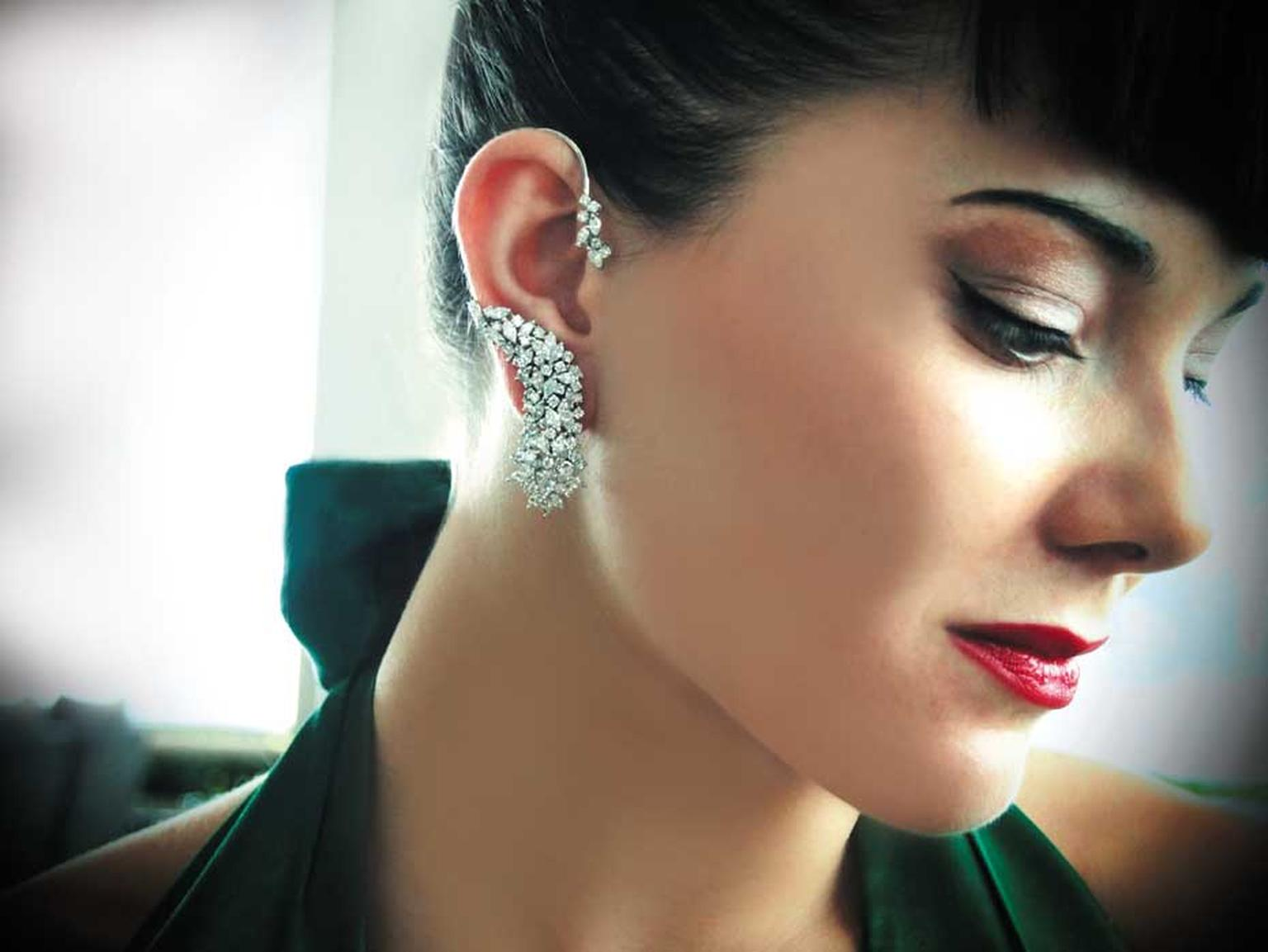 Apostrophe diamond ear cuff available at Plukka.