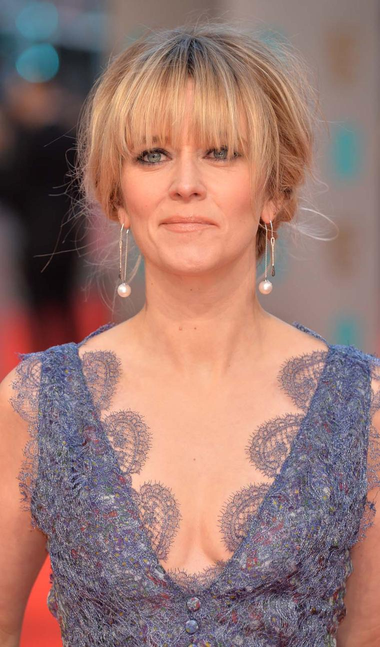 Edith Bowman wore a pair of YOKO London Australian South Sea pearl earrings with black and white diamonds at the 2015 Baftas.