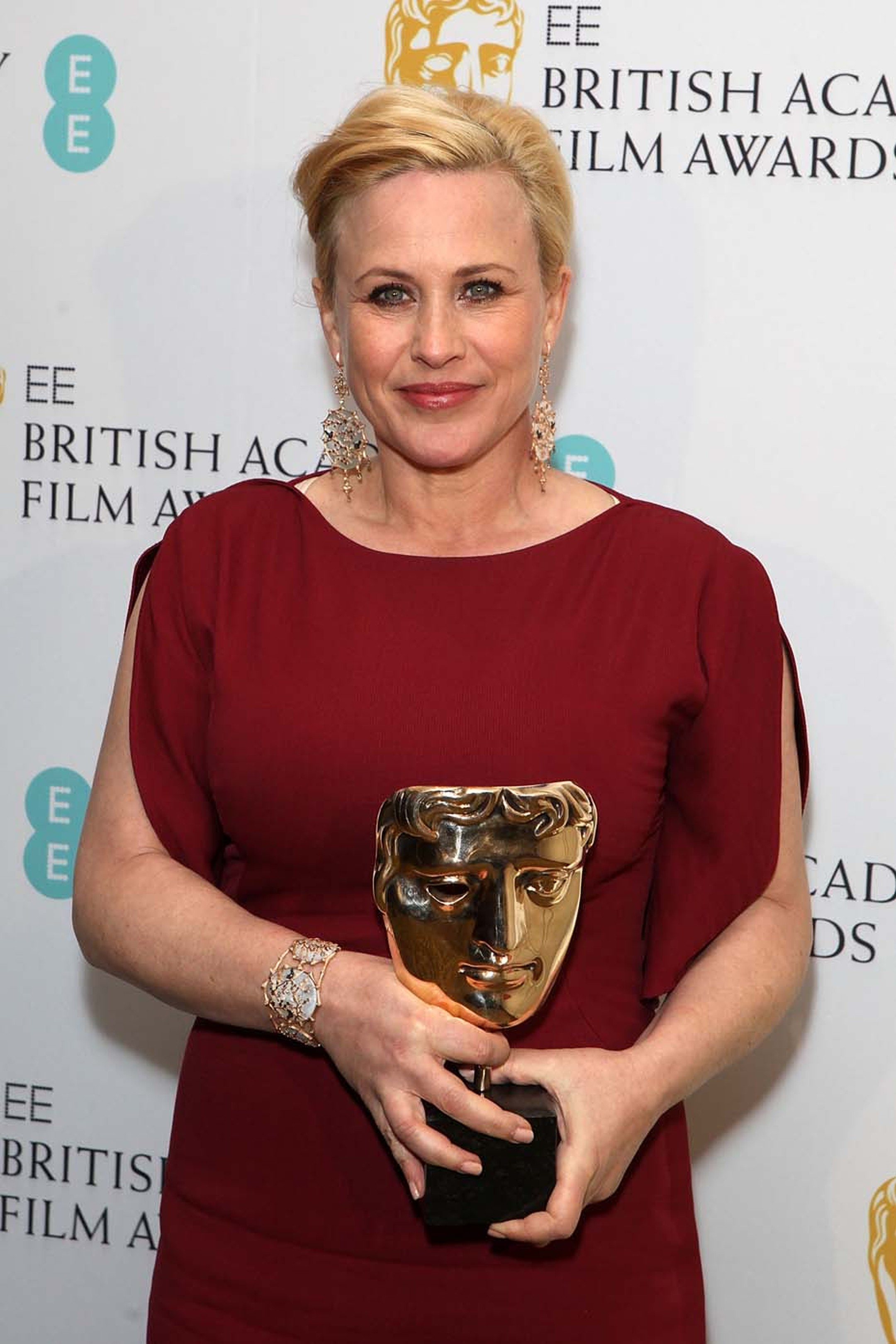 BAFTA Best Supporting Actress winner, Patricia Arquette, received her award at the ceremony at London's Royal Opera House wearing Annoushka Dream Catcher earrings and cuff.