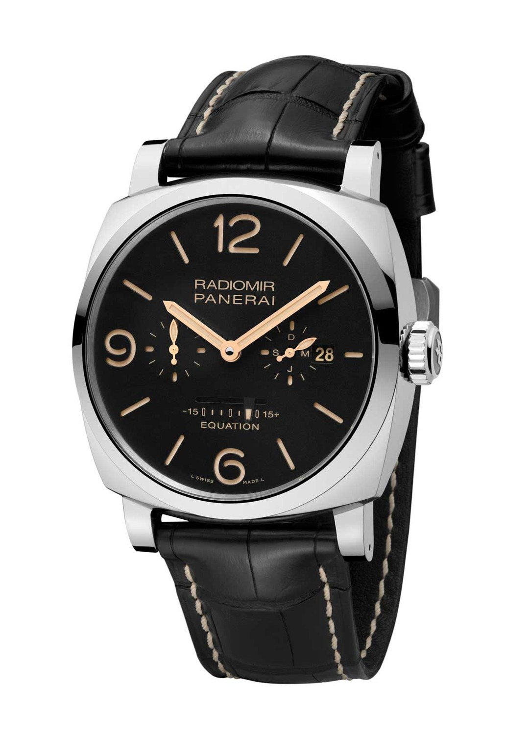 Retailed to the public since 1993, the Panerai Radiomir and Luminor models are so popular that they have their very own fan club of Paneristi aficionados. Pictured here, the new Panerai Radiomir 1940 Equation of Time 8-days in a 48mm stainless steel case.