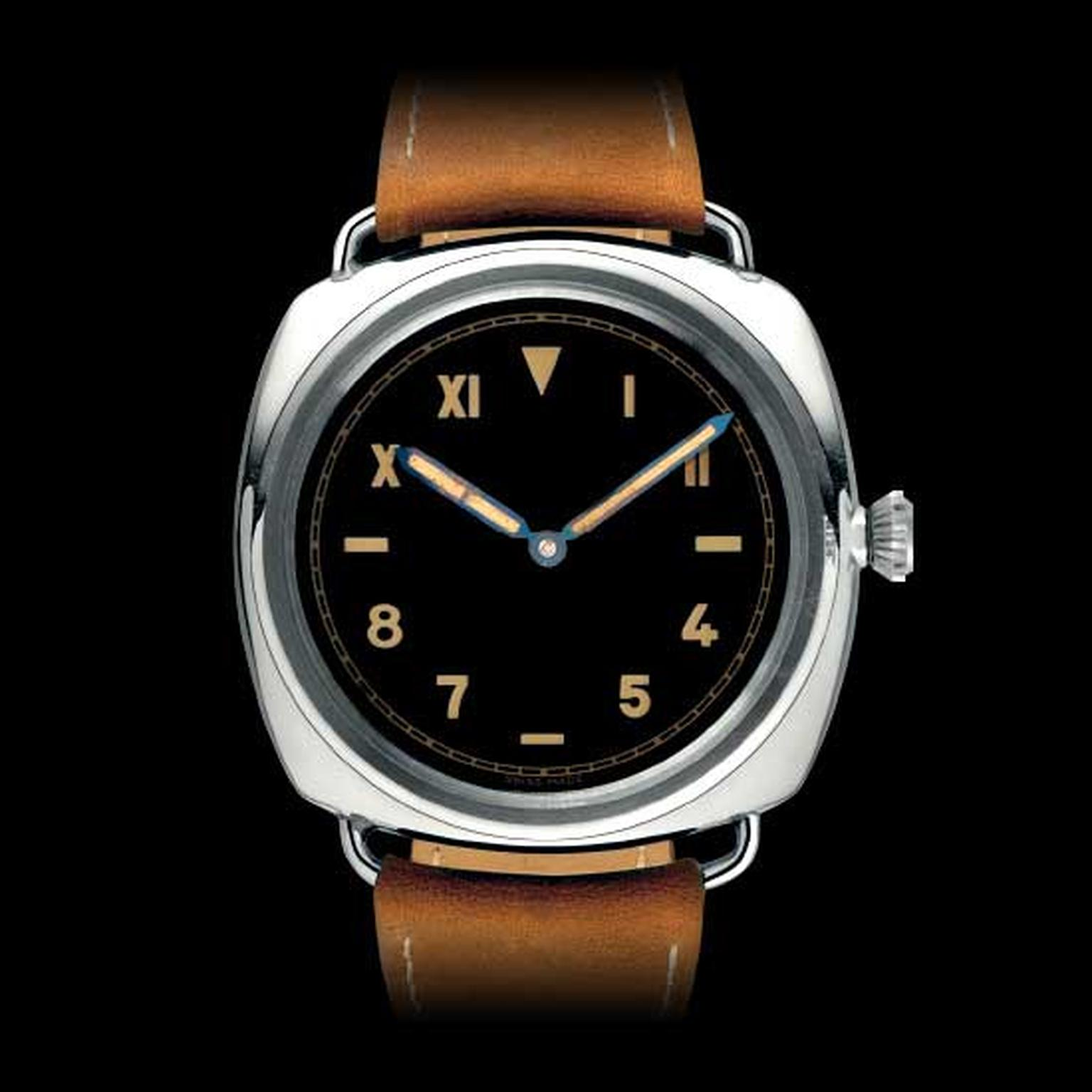 Panerai created 10 prototypes of the 47mm Radiomir in 1936 for Italian frogmen commandos. Panerai's upper hand was thanks to the revolutionary application of luminous material to its instruments, a mixture of radium bromide and zinc sulphide known as Radi