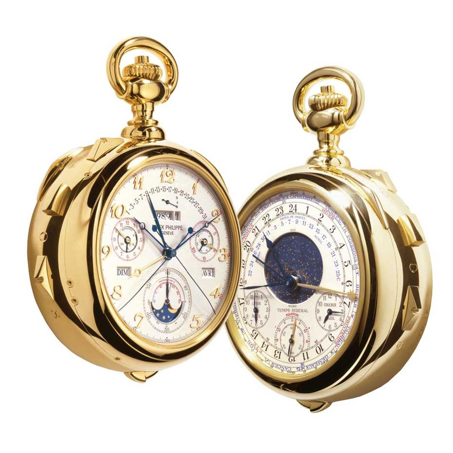Calibre 89 by Patek Philippe was created to celebrate the brand's 150th anniversary in 1989. Packed with 33 complications, it is the world's most complicated pocket watch.
