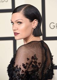 Jessie J's slicked-back hair showed off her Sutra black gold and diamond ear cuff perfectly.