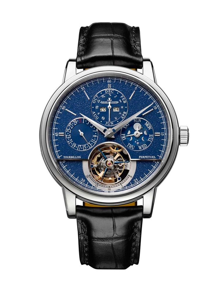 Jaeger-LeCoultre Master Grande Tradition Tourbillon Cylindrique Quantième Perpétuel watch combines the beauty of a flying tourbillon with one of the most useful complications for earthlings in the form of a perpetual calendar.