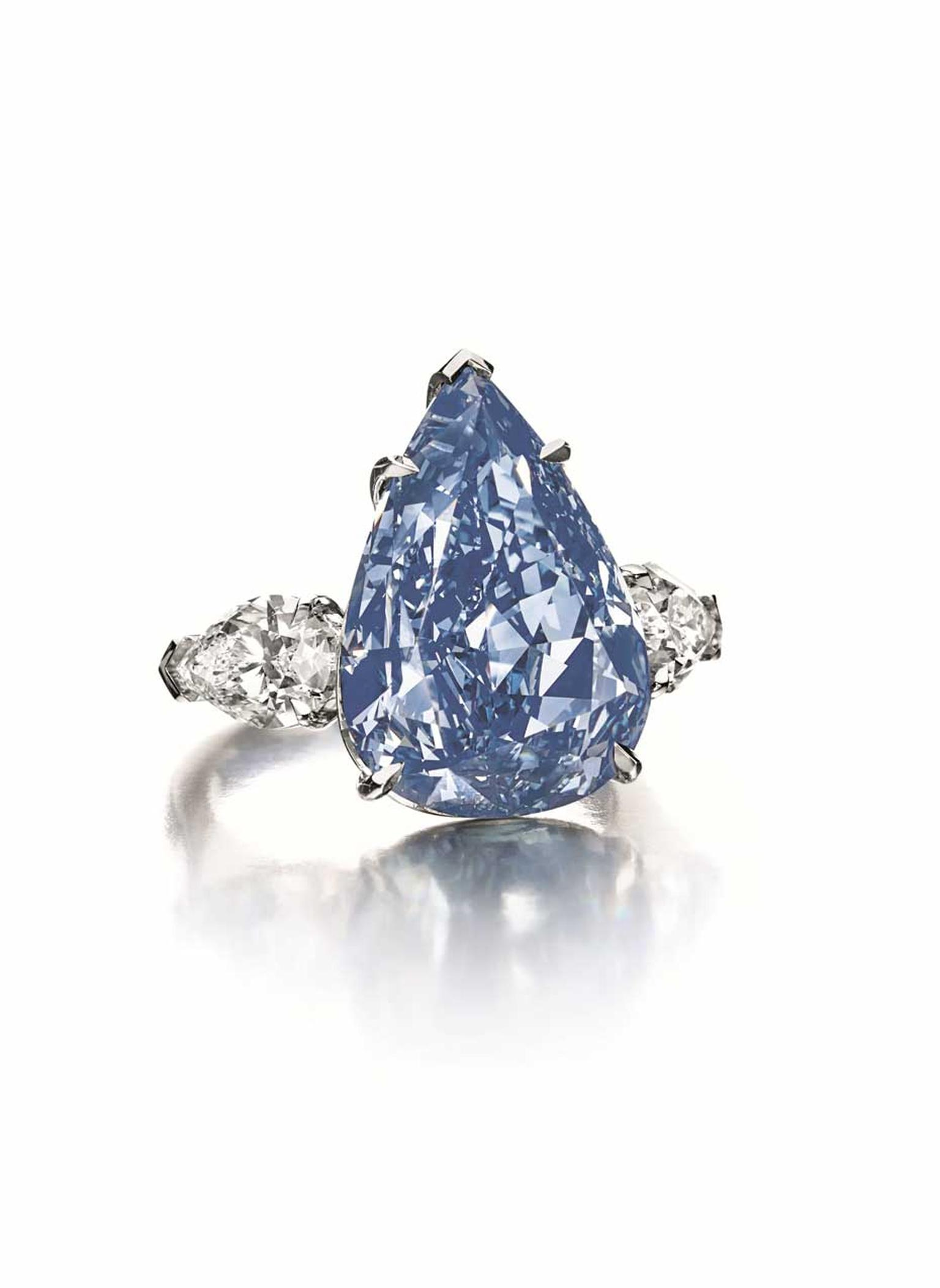 The Winston Blue, which sold for almost $23.8m at Christie's Geneva last May, was the auction house's top jewel for 2014.