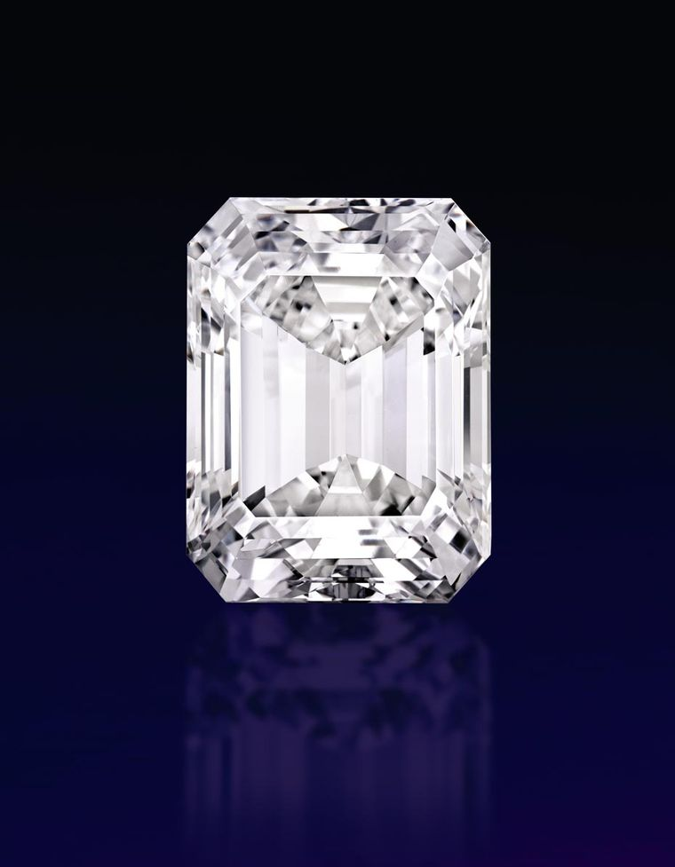 "The extraordinary ""perfect"" 100.20ct emerald-cut diamond, which sold for $22.1million, was the highlight of the Sotheby's Magnificent Jewels Sale in New York on April 21, which achieved a record-breaking total of $65.1 million."
