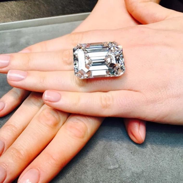 A diamond of these proportions in this shape is so rare that it is, in fact, the largest emerald-cut diamond ever to be offered at auction, with an estimate of $19-25 million, making each carat valued at $190,000.
