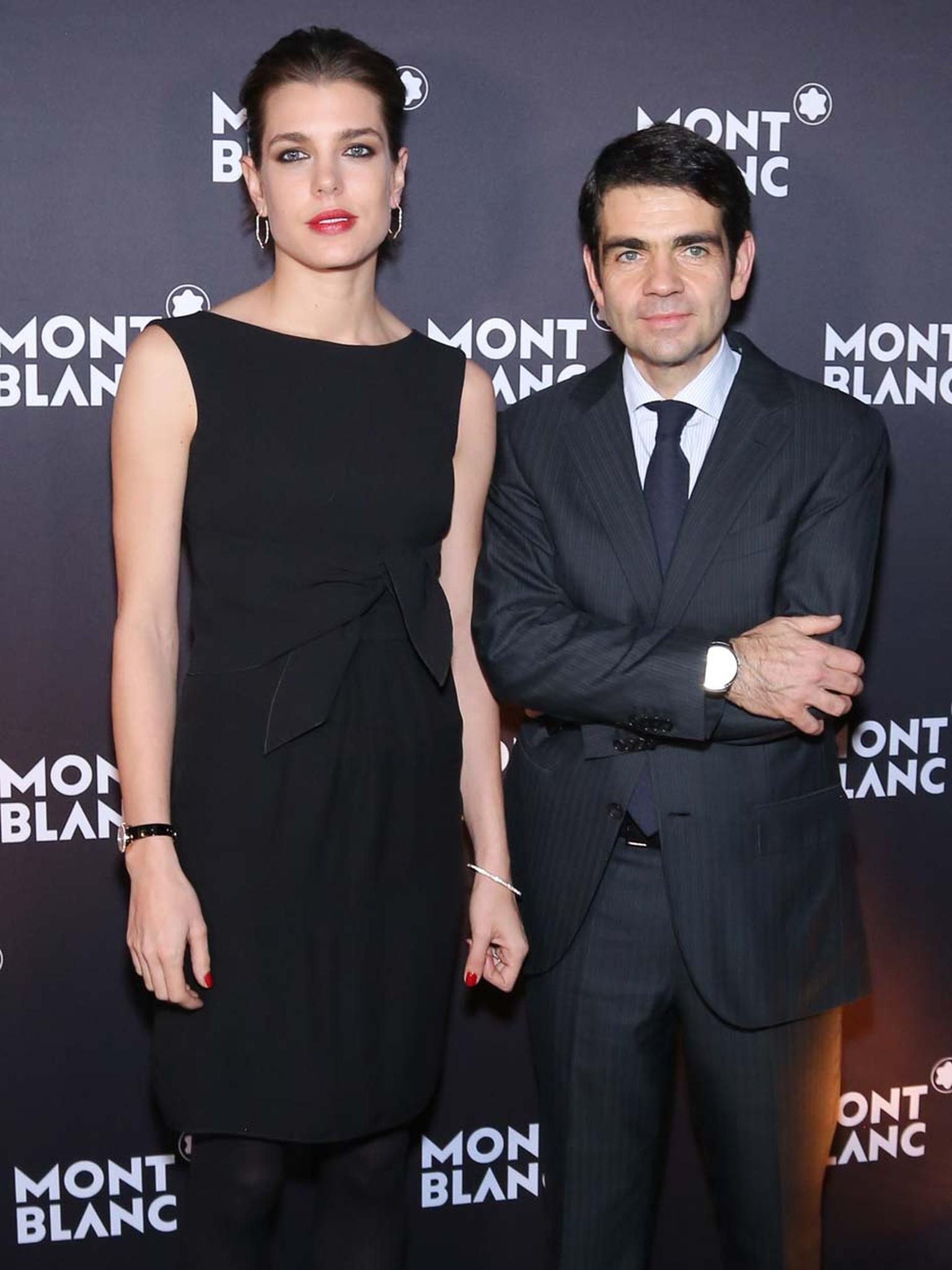 Charlotte Casiraghi with Montblanc CEO Jerôme Lambert at the SIHH watch salon.