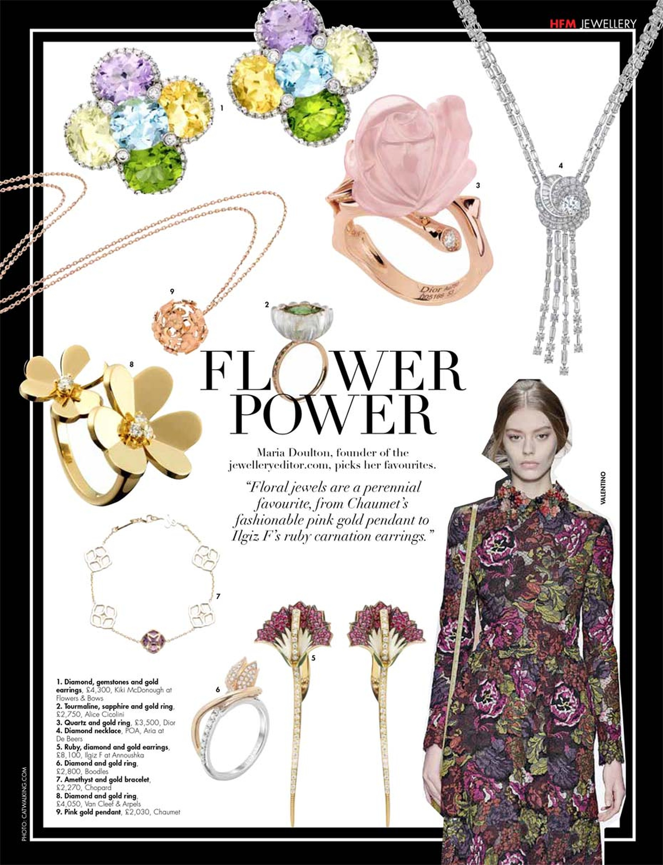 Our favourite floral jewels appear in Hello! Fashion magazine for spring.