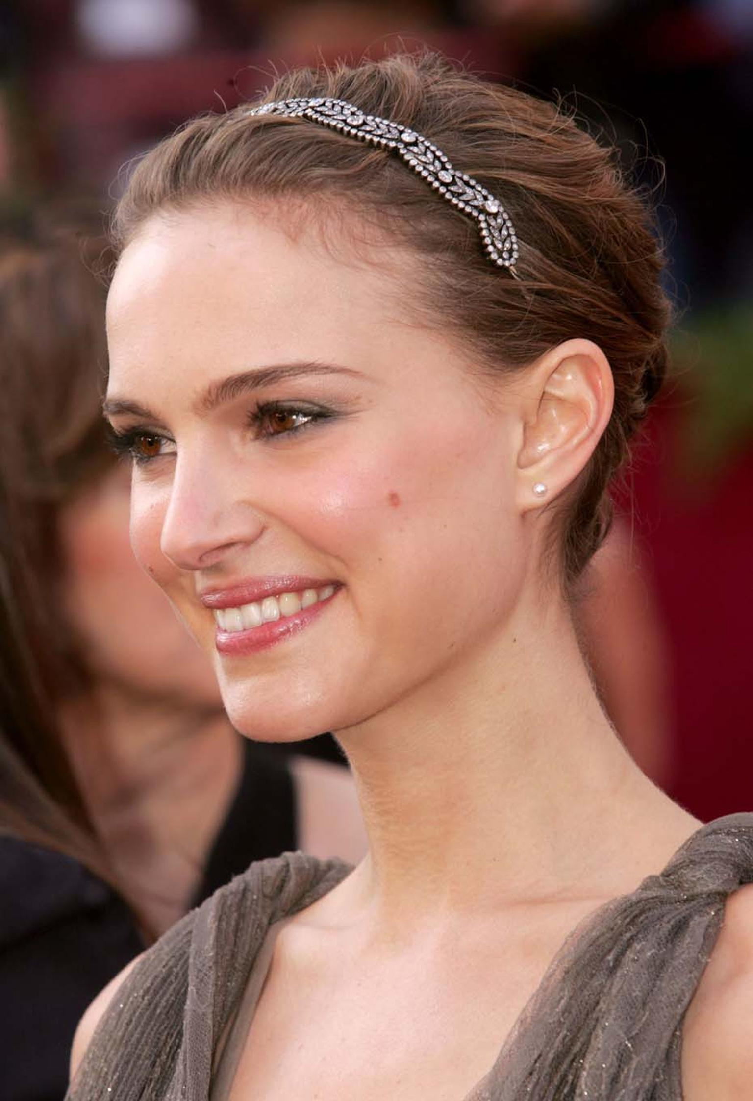 Fred Leighton's Rebecca Selva was inspired by Victorian ingenuity when she had a stunning 19th century choker mounted to create a beautiful diamond headband for actress Natalie Portman to wear as she walked the 2005 Academy Awards red carpet.