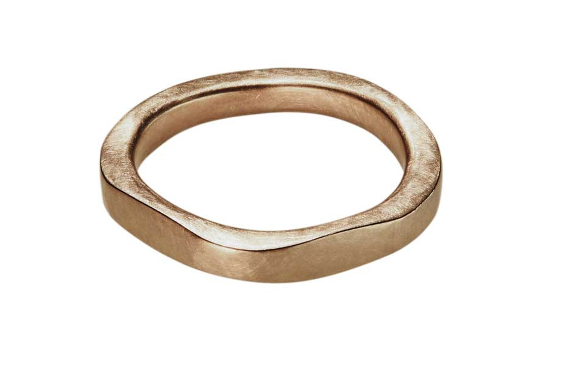 Cox & Power's London forged wedding band in Fairtrade gold.
