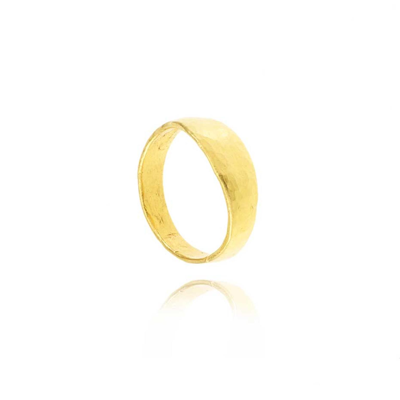 Pippa Small's ethical wedding bands are made using Fairtrade gold sourced from mines in Bolivia and Peru.