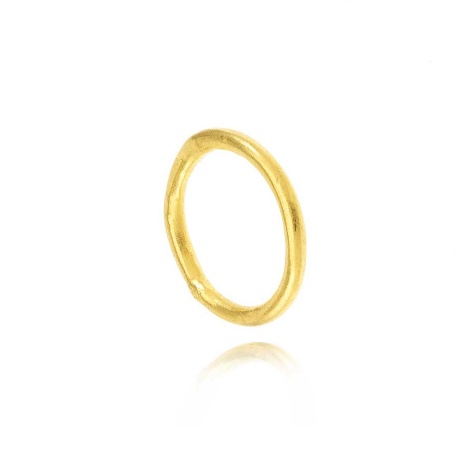 Pippa Small ethical wedding band in Fairtrade gold.