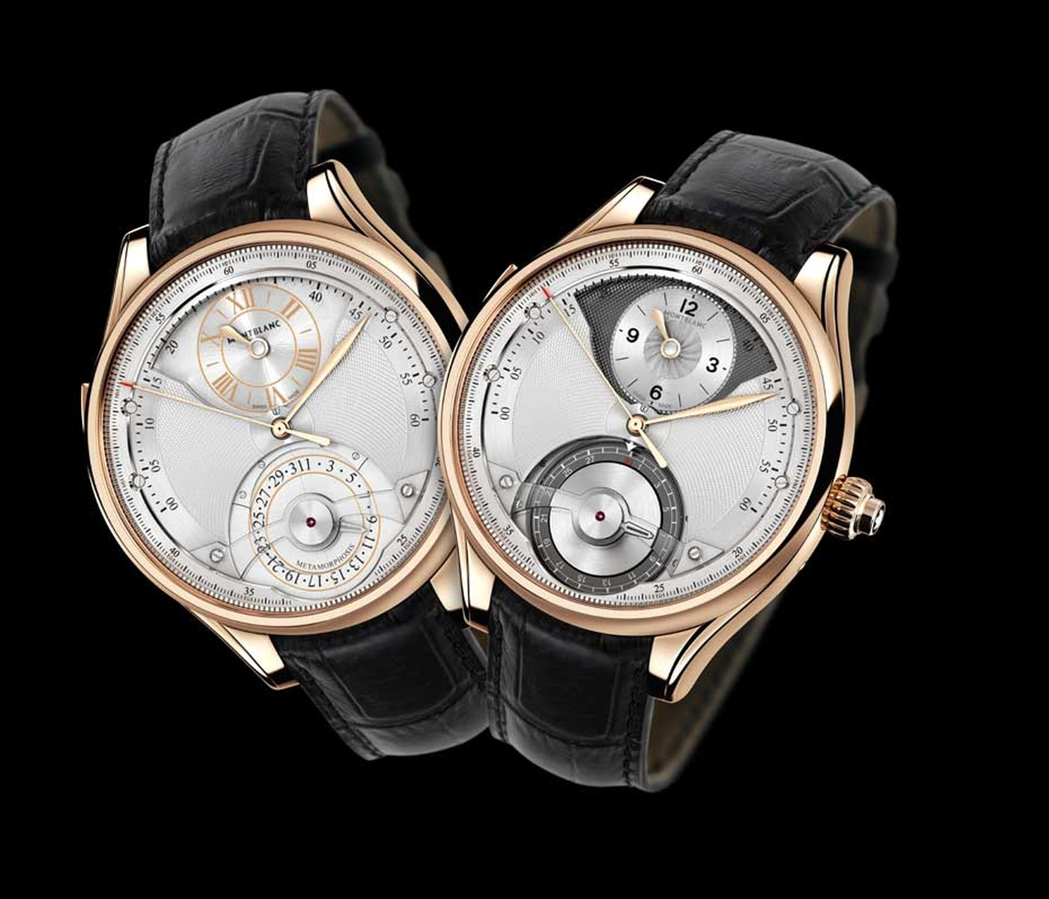 Montblanc Metamorphosis II watch is a master of transformation allowing you to view the conventional hour, minute, seconds and date on one dial, and chronograph functions on the dial hidden below.