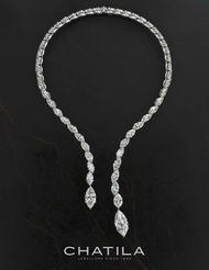 Also on display at DJWE will be this diamond necklace from Chatila set with 53 marquise-cut diamonds weighing 74.27ct.