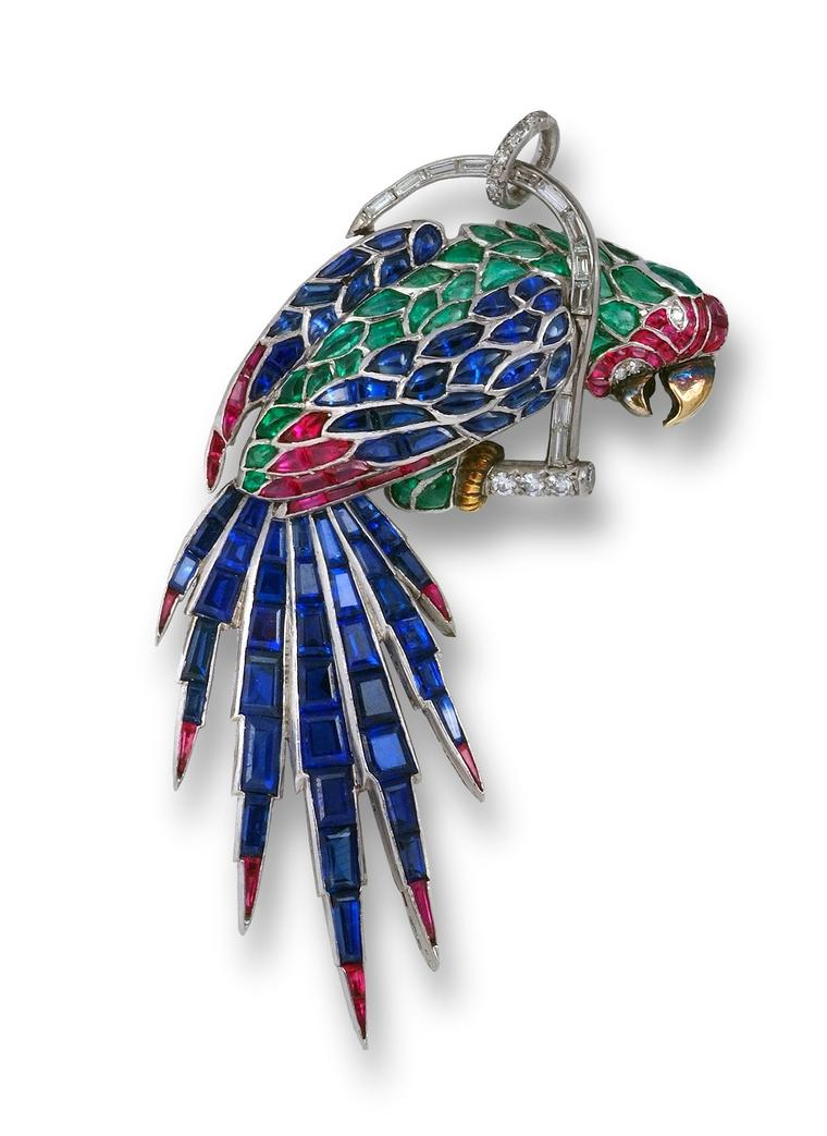 Masterpiece-Symbolic and Chase_Parrot Brooch