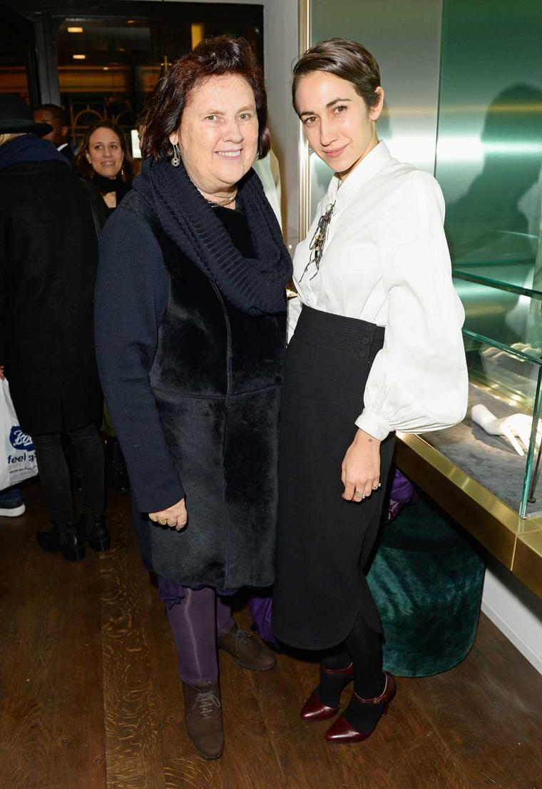 Delfina Delettrez pictured with Suzy Menkes at the opening of her new London boutique.