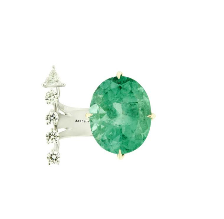 Green Light ring from the Delfina Delettrez jewellery collection.