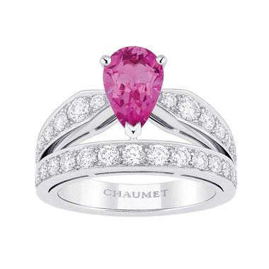 Chaumet Joséphine Tiara pink sapphire ring