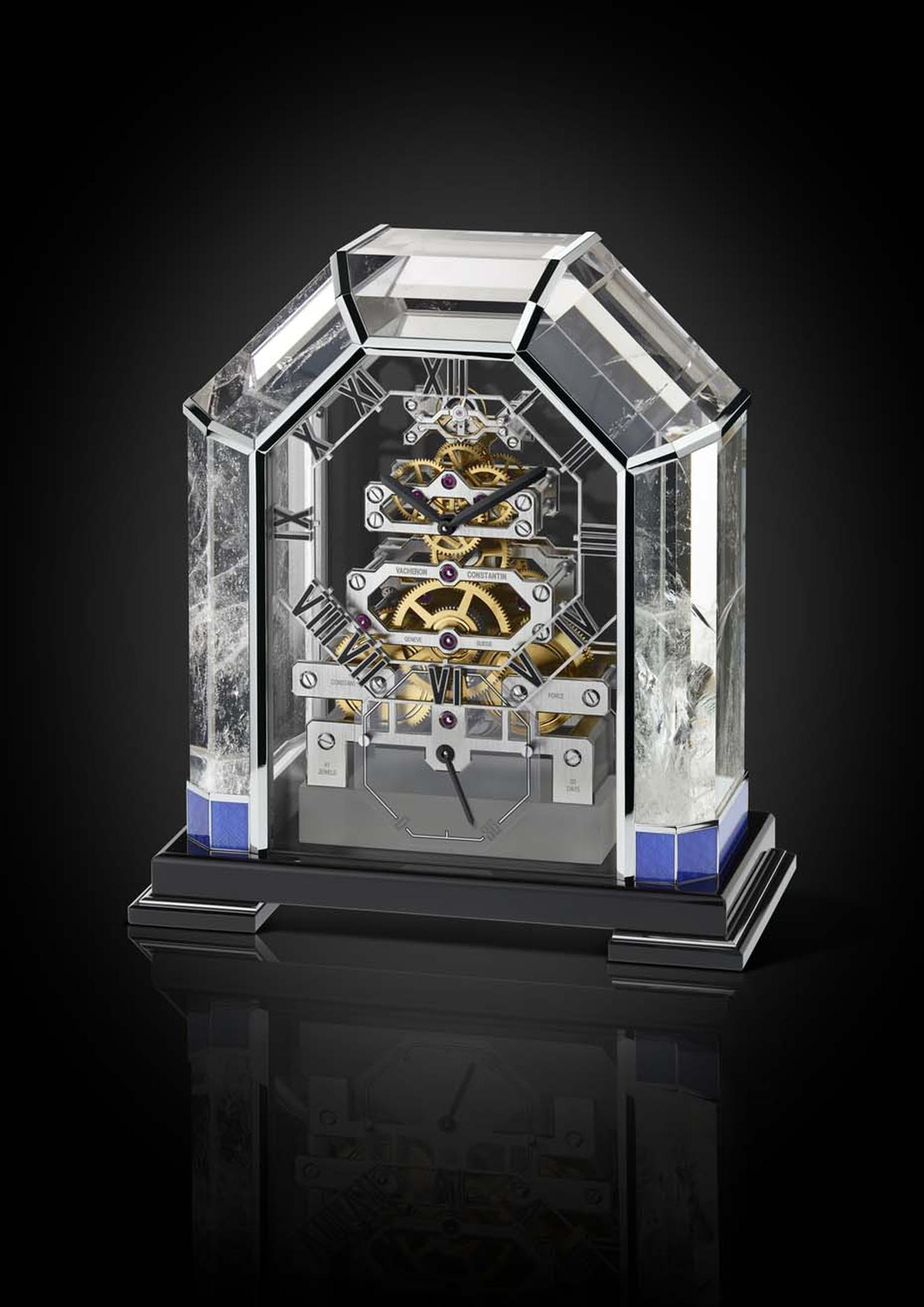 Vacheron Constantin has revisited one of its Art Deco table clocks from 1933 this year with the Arca, a unique and beautifully crafted clock made from rock crystal.