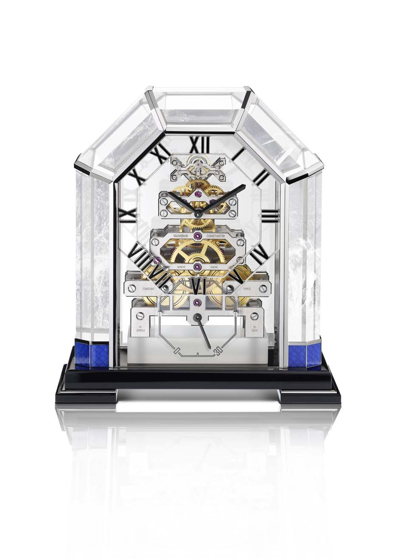 the Arca, a unique and beautifully crafted clock made from rock crystal. It offers a clear view of the open-worked, manual-winding calibre 9260. Built around seven hand-bevelled bridges, the exceptional power reserve of 30 days means that the clock will o