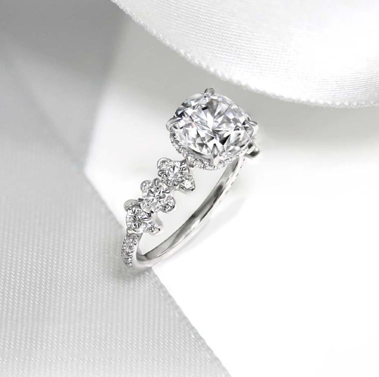 Thomas de Montegriffo bespoke diamond engagement ring