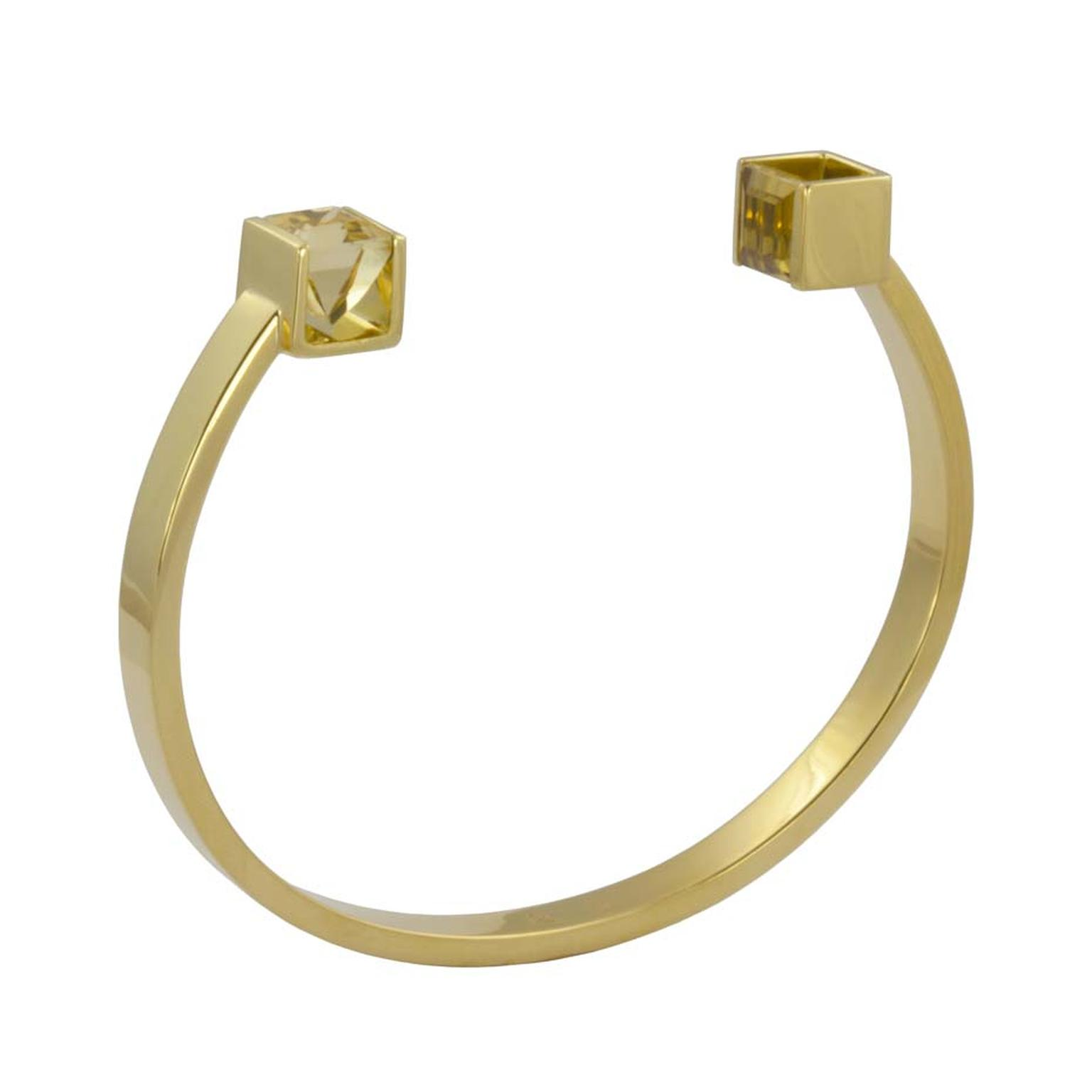 Kattri Quadrant yellow gold and citrine bracelet (£4,250).