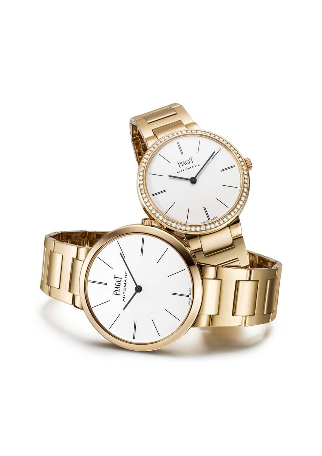 Piaget watches adds an extra touch of class to its Altiplano collection with the incorporation of  a rose gold bracelet for both its men's and ladies' models.